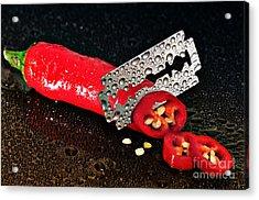 Sharp Acrylic Print by Jan Wolf