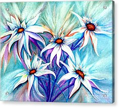 Shasta Daisy Dance Acrylic Print by Janine Riley