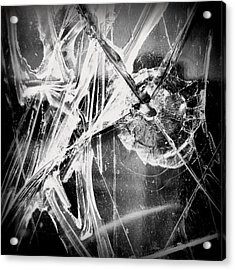 Acrylic Print featuring the photograph Shatter - Black And White by Joseph Skompski