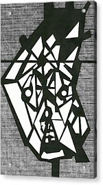 Shatterd Acrylic Print by David King