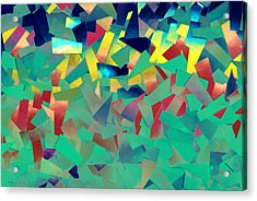Shattered Color Acrylic Print