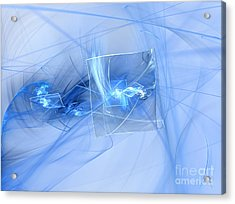 Acrylic Print featuring the digital art Shattered by Victoria Harrington