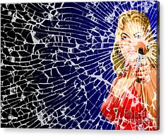 Acrylic Print featuring the digital art Shattered Wideshot by Sasha Keen