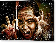 Shattering Horror Acrylic Print