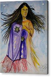 Shawl Dancer Acrylic Print by Linda Waidelich