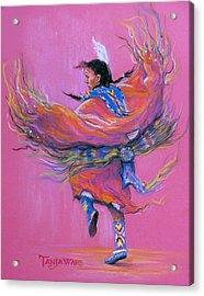 Shawl Dancer Acrylic Print by Tanja Ware