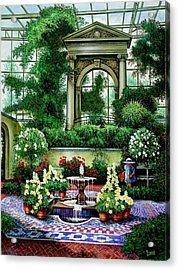 Shaw's Gardens Mediteranian House Acrylic Print by Michael Frank