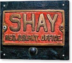 Shay Builders Plate Acrylic Print