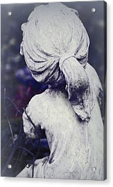 She Dreams Of Angels... Acrylic Print by The Art Of Marilyn Ridoutt-Greene