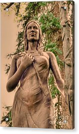 She Holds Her Cross Acrylic Print by Kathleen Struckle