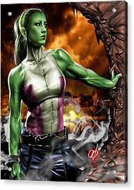 She-hulk Acrylic Print by Pete Tapang