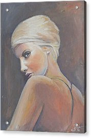 She...... In Colors Acrylic Print by Jovica Kostic