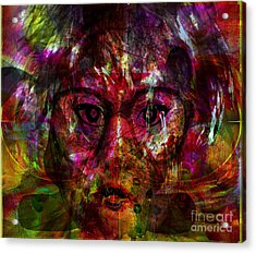 She Is Present But Very Absent Acrylic Print by Fania Simon