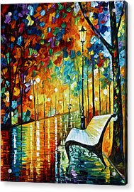She Left.... New Version Acrylic Print by Leonid Afremov