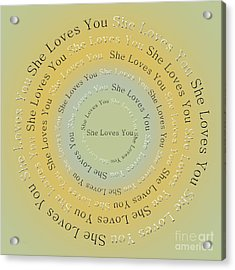 She Loves You 4 Acrylic Print by Andee Design