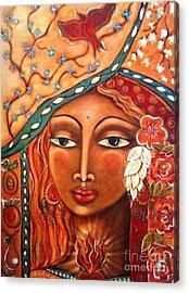 She Sees Acrylic Print by Maya Telford
