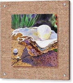 She Sells Sea Shells Decorative Design Acrylic Print by Irina Sztukowski