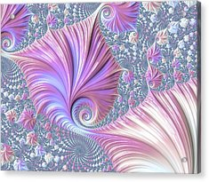 Acrylic Print featuring the digital art She Shell by Susan Maxwell Schmidt