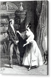 She Then Told Him What Mr Darcy Had Voluntarily Done For Lydia Acrylic Print by William Greatbach
