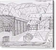 Shed 3 Acrylic Print by Clark Letellier