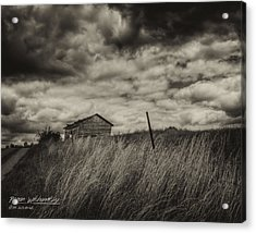 Shed And Field Acrylic Print