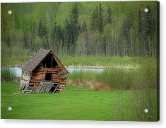 Shed By The Lake Acrylic Print
