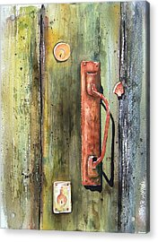 Shed Door Acrylic Print by Sam Sidders