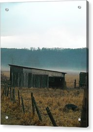 Shed In A Field Acrylic Print