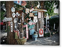 Shed Toilet Bowls And Plaques In Seligman Acrylic Print