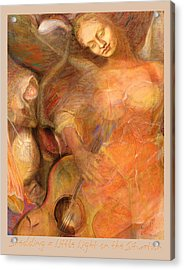 Acrylic Print featuring the pastel Shedding A Little Light On The Situation 1 by Brooks Garten Hauschild