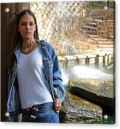 Sheena In Blue Jean Jacket Acrylic Print by Joseph C Hinson Photography