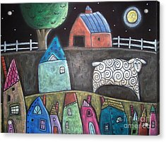 Sheep Country Acrylic Print by Karla Gerard