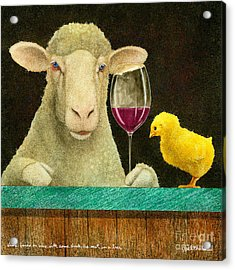 Sheep Faced On Wine With Some Chick He Met In A Bar... Acrylic Print