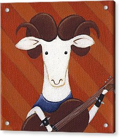 Sheep Guitar Acrylic Print by Christy Beckwith
