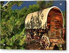 Sheep Herder's Wagon Acrylic Print by Donna Kennedy