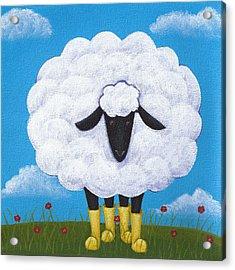 Sheep Nursery Art Acrylic Print by Christy Beckwith