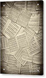 Sheet Music Acrylic Print by Tim Gainey