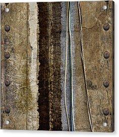 Sheetmetal Strings Acrylic Print by Carol Leigh