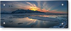 Sheets Of Ice Being Carried Acrylic Print