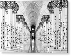 Sheik Zayed Mosque Acrylic Print by Hans-wolfgang Hawerkamp