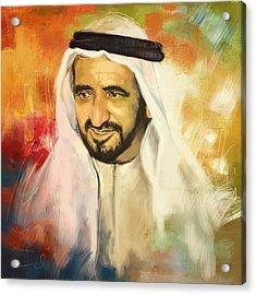 Sheikh Rashid Bin Saeed Al Maktoum Acrylic Print