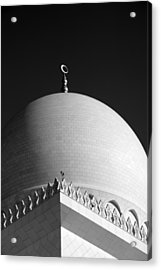 Sheikh Zayed Grand Mosque Acrylic Print by Myles Cummings