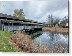 Acrylic Print featuring the photograph Shelburne Covered Bridge by Jeremy Farnsworth