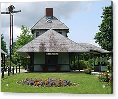 Acrylic Print featuring the photograph Shelburne Depot by Caroline Stella