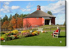Shelburne Round Barn Acrylic Print by Paul Miller