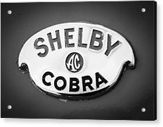Shelby Ac Cobra Emblem -0282bw Acrylic Print