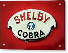 Shelby Ac Cobra Emblem -0282c Acrylic Print