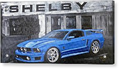 Acrylic Print featuring the painting Shelby Mustang by Richard Le Page