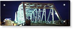 Shelby Street Bridge At Night Acrylic Print by Panoramic Images