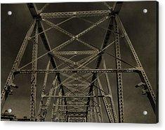 Shelby Street Bridge Details Nashville Acrylic Print by Dan Sproul